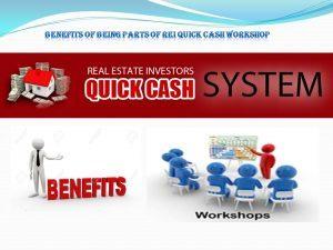 Zack Childress Benefits of Being Parts of REI Quick Cash Workshop
